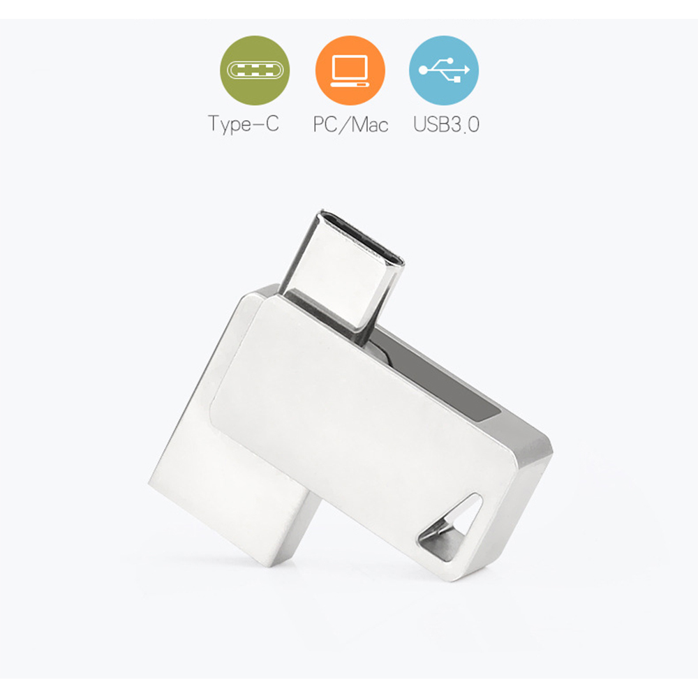 USB Flash Drive High Speed 2-in-1 Type-C and 3.0 connectors U Disk Ultra Durable Casing 8GB/16GB/32G/64G/128GB Memory Stick