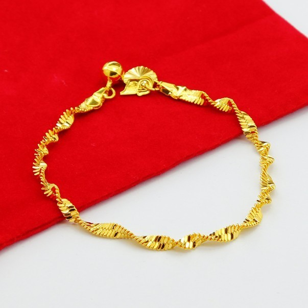 Latest Design Simple Style Fashion Gold Bracelet 24k Vacuum Plated