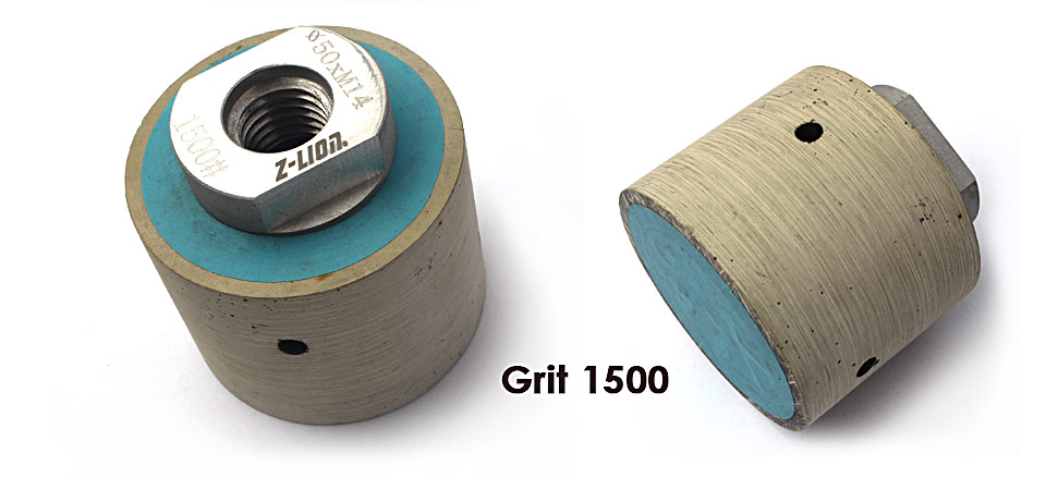 "Diamond Resin Drum Polishing Wheels 7pcs/Set Zero Tolerance Wet Diamond Polishing Drums For Granite Marble Concrete - 2"""