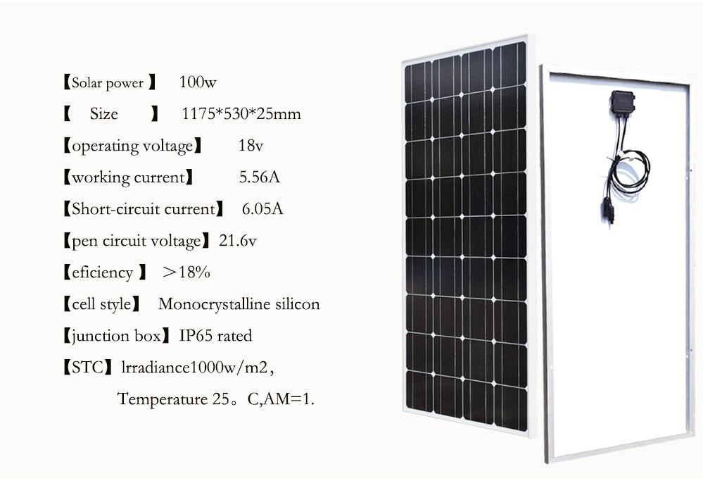 Boguang 10*100w solar panel 1000w Photovoltaic module
