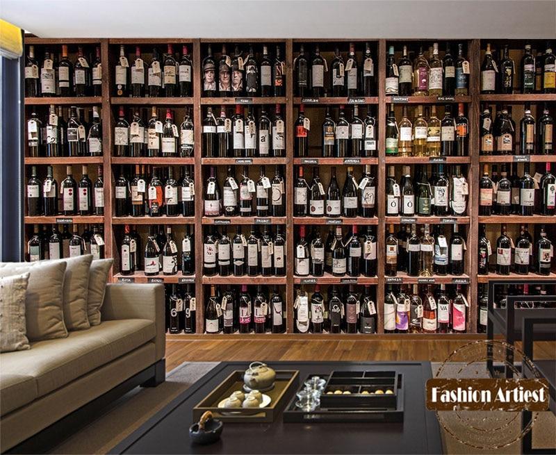 Aliexpress.com : Buy Custom modern 3d wallpaper mural red wine ...