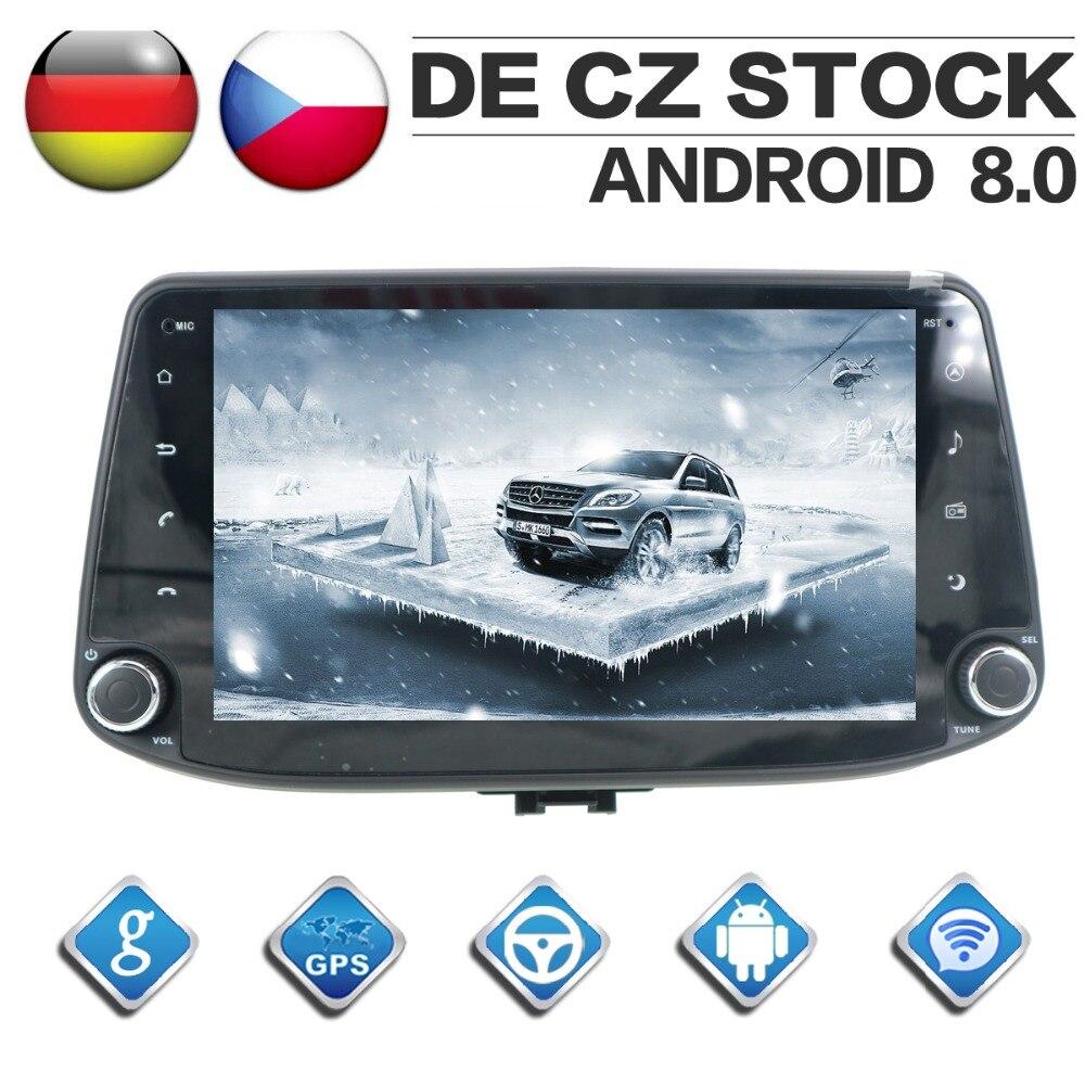 4G + 32G Octa Core 2 Din stéréo Android 8.0 autoradio pour Hyundai i30 2017 2018 Navigation GPS lecteur CD DVD Bluetooth headunit