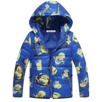 Children Jackets Minions Boys Girl Winter Down Coat 2016 Fashion Baby Cartoom Warm Coat Kids Winter