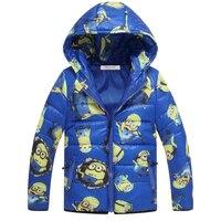 Children Jackets Minions Boys Girl Winter Down Coat 2016 Fashion Baby Cartoom Warm Coat Kids Winter