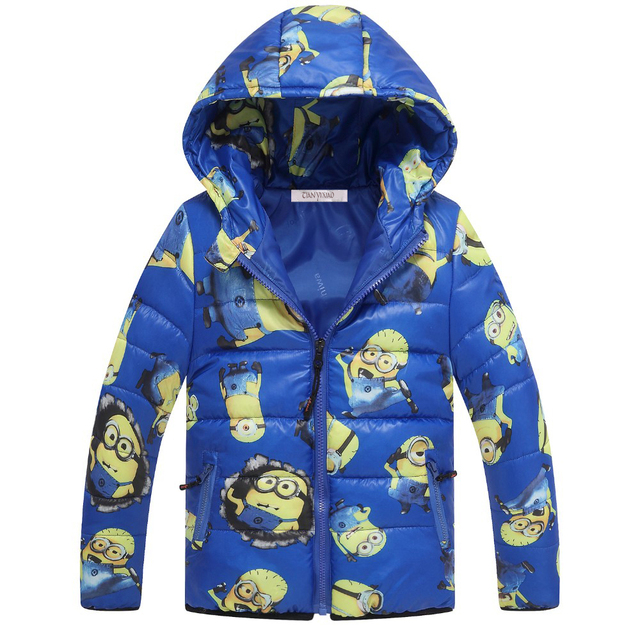 Children Jackets Boys Girl winter down coat 2017 Fashion Baby cartoon Warm Coat Kids winter hooded Coat kids outerwear