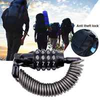 Bike Lock Cable Spring Anti-theft Bicycle Code Lock 4 Digits Combination Password Bike Lock Spring Disc Cable Wire Security Lock