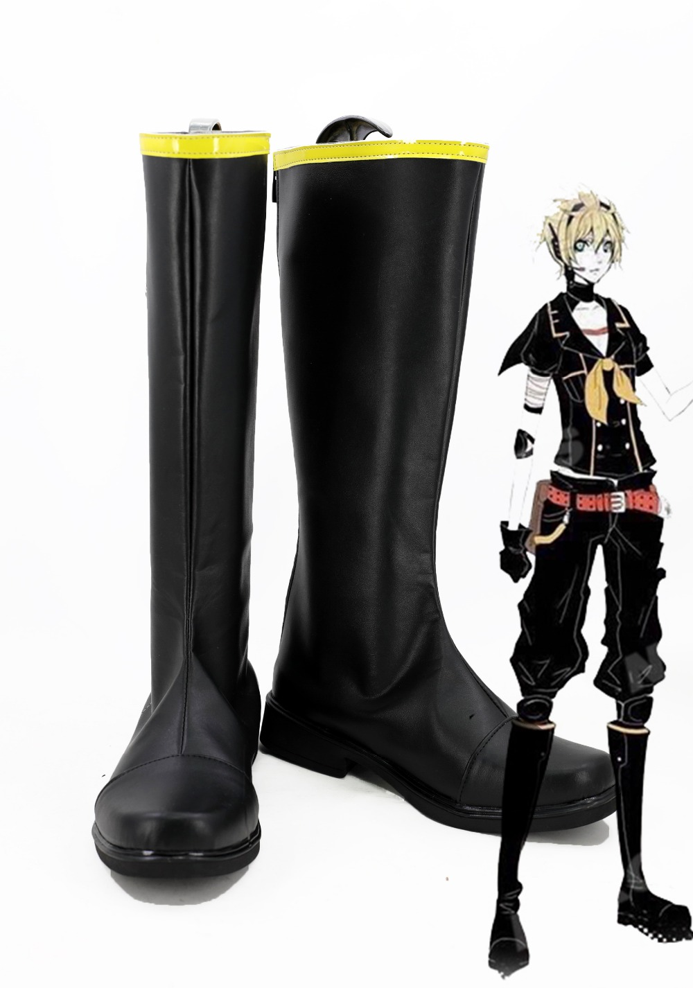 Anime Vocaloid Cosplay Boots Kagamine Ren Shoes Halloween Cosplay