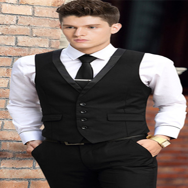 2018 new men s suit vest spring and summer men s vest background business casual tide Ko ...