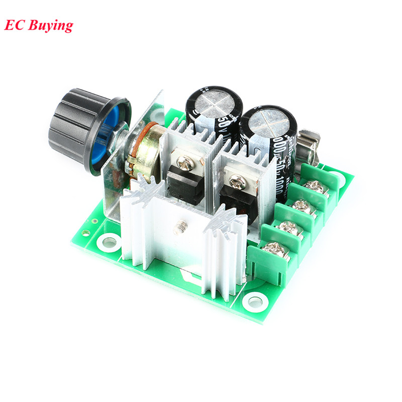 DC 12V-40V 10A Motor Governor Pump Pwm Stepless/Continuously Speed Changer Switch High Efficiency High Current Protection 13kHz