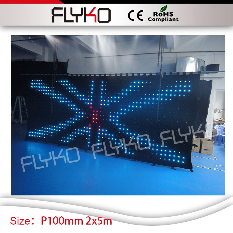 US $1678 0  Flexible DMX Control P10 2x5m Professional Backdrop Decoration  Rental led curtain for stage backdrops-in Stage Lighting Effect from Lights
