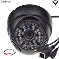 Gadinan ONVIF Wifi 802.11b/g/n H.264 Network P2P CCTV Indoor Wireless IP Camera With External Audio Pickup 720P/960P