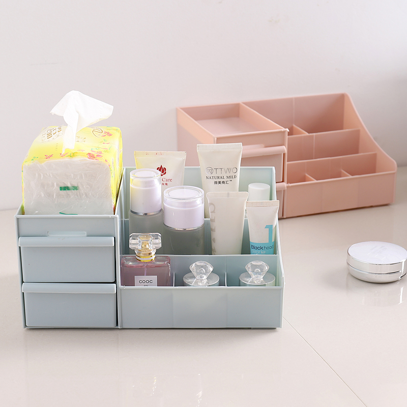 Cute Makeup Organizer Storage Cosmetic Box Lipstick Jewelry Saving