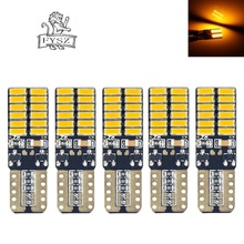 MZ T10 LED 8W 24-4014 SMD W5W 168 194 Car Atmosphere / License Plate Yellow Light