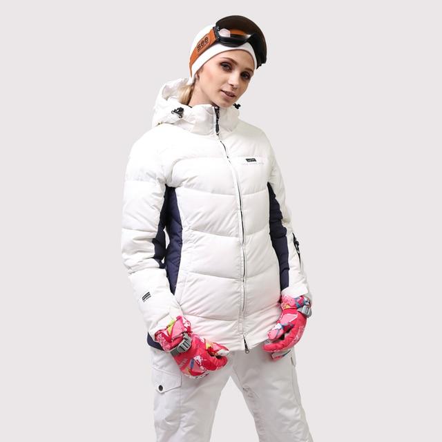 Женский лыжный костюм высокого качества зимняя белая лыжная куртка и брюки зимние теплые непромокаемые ветрозащитные лыжные и сноубордические костюмы