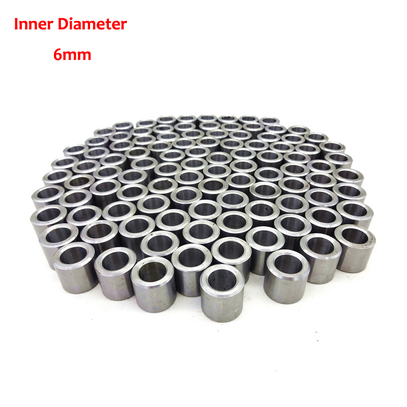 10Pcs  ID 6MM Steel Drill Sleeve Brushing Guide Sleeve Precision Bearing Jig Bushes  (Inner Dia. X Outer Dia. X Height) accutex lt103 diamond wire guide inner dia 0 155mm manual upper
