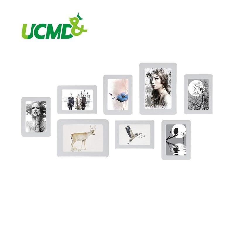 Marco de fotos magnético con adhesivo superficie de cristal 6 \