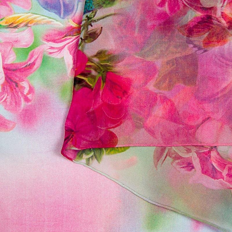 Шелковый шарф женский шарф Колибри Шелковый платок дизайнерский шарф женский Шелковый Пашмина Тонкий шелковый шарф роскошный подарок для леди