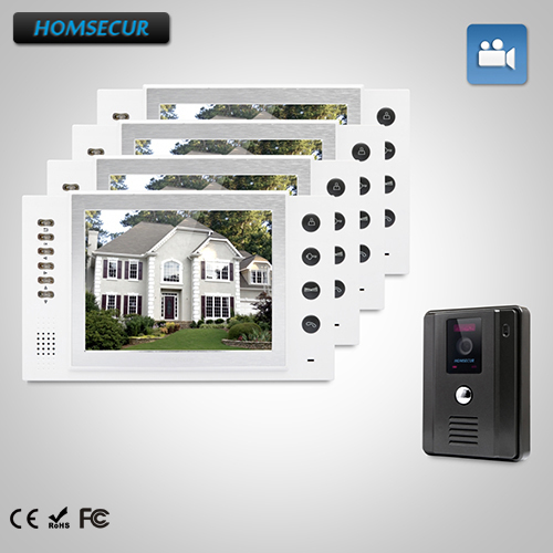 Homsecur 8 Video Door Entry Phone Call Systemdual Way Intercom For