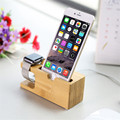 Wood Phone Stand Charging Bracket Holder for iPhone 6 6S Plus SE 5 5S 5C 4S for i Watch Natural Bamboo Charging Dock Station