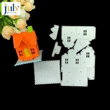 Julyarts 4PCS/SET Cute House Scrapbooking Dies Metal for Handmade Album Photo Scrapbook Cutter