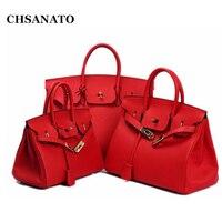 CHSANATO Wholesale European and American Classic Brand Designer Handbag High Quality Real Leather Women Tote