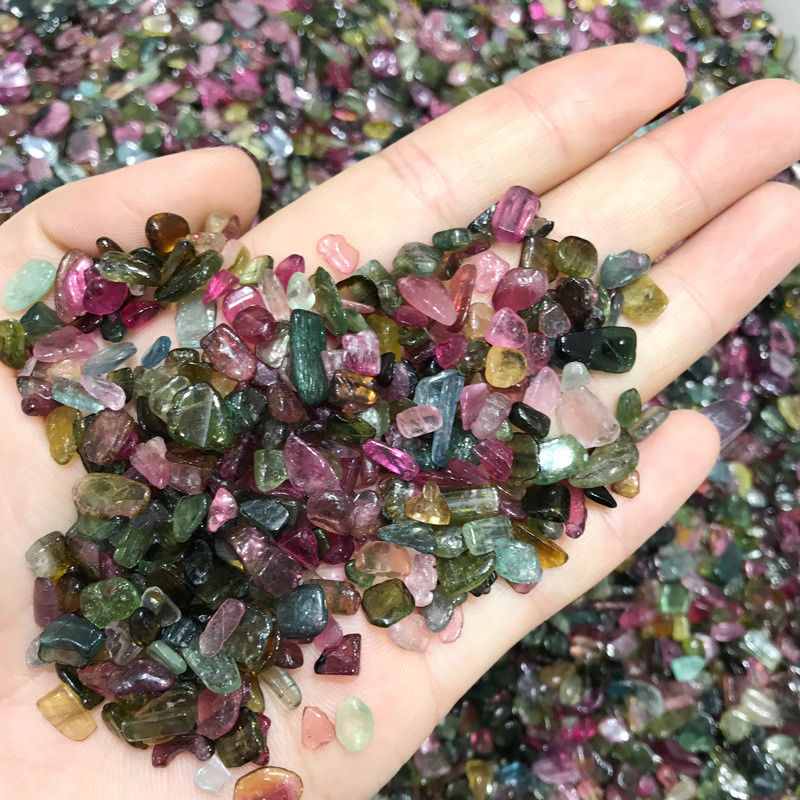 Drop Shipping 50g High Quality Natural Colourful Tourmaline Gravel Stone Mineral Specimen Quartz Crystals Natural Stones