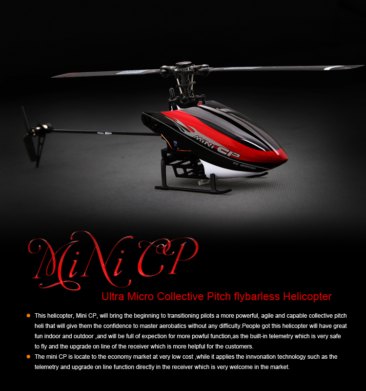 WALKERA Mini CP 6CH Flybarless Telemetry Helicopter BNF