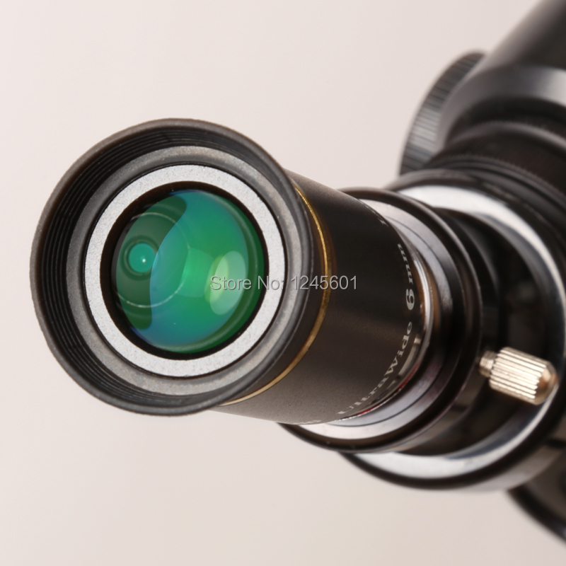 66 degrees Ultra Wide 6mm Eyepiece outer lens Fully Multi-Coated for Astronomical Telescope bones шапка bones swiss pom