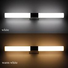 Longer LED Mirror Light Modern Cosmetic stainless steel aluminum hardware parts Bathroom Lighting AC100-240V Mirror Wall lamp