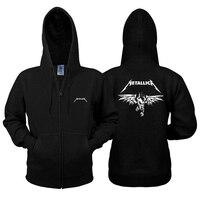 Neue herbst und winter sweatshirt heavy metal band Metallica metall produkte rock zipper hoodies baumwolle männer und frauen jacke