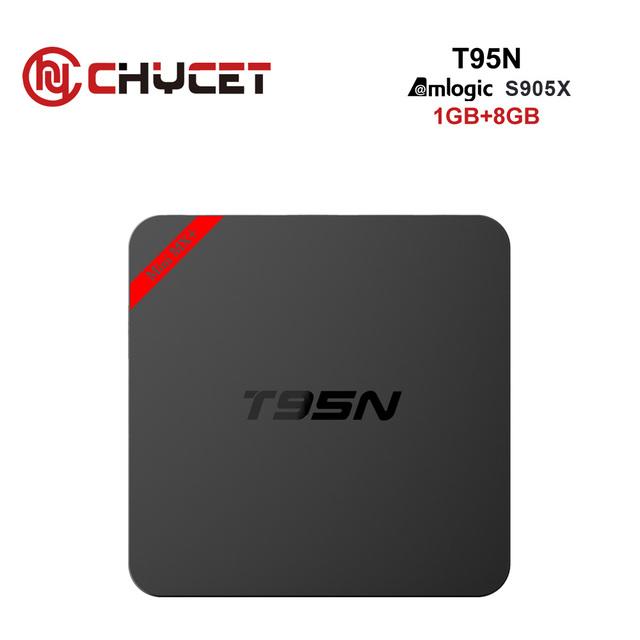 Chycet T95N 1G 8G Android 6.0 Smart TV Box Amlogic S905X 64 bit Quad Core 4K 2K H.265 IPTV Media player Set-top box PK X96