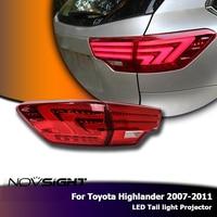 NOVSIGHT 2 шт. Автомобильный свет в сборе указатель поворота противотуманная фара Набор для Toyota Highlander 2007 2011