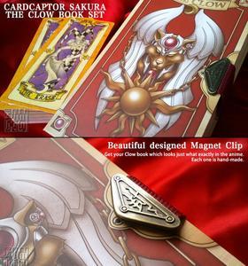Image 2 - אנימה 53 Pieces סט עם קלאו ספר זהב טארוט כרטיסי סאקורה Cardcaptor כרטיס חדש בתיבה