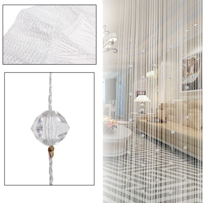 New Voile Romatic String Curtain With Beads Decor Tassels Fly Insect Door  Screen Divider Window Panel Room Divider In Curtains From Home U0026 Garden On  ...