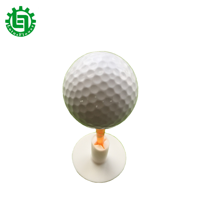 Lotusflower 4 Pcs/set 2017 New  White Plastic Golf Tees Rubber Holder Golf Accessories Golf Practice Tee Golf Rubber Tees
