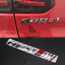 Universal Fit Auto Car 3D APR Stage III+ Emblem Tail Side Fender Sticker Badge For Audi R8 RS4 RS5 A4 A5 Porsche Volkswagen Benz(China)