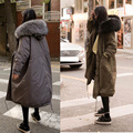 2016 New Large Raccoon Fur Coat Winter Jacket Women Thicken Warm Cotton Padded Army Green Long Coat Military Oversize Parkas