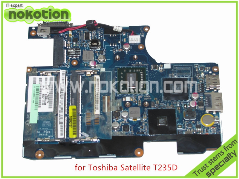 NOKOTION LA-6032P K000106360 For toshiba satellite T235 T235D Laptop motherboard AMD DDR3 Turion Neo TMK625 CPU Mainboard nokotion sps v000208030 for toshiba satellite e200 e205 laptop motherboard intel hm55 nvidia geforce gt310m mainboard