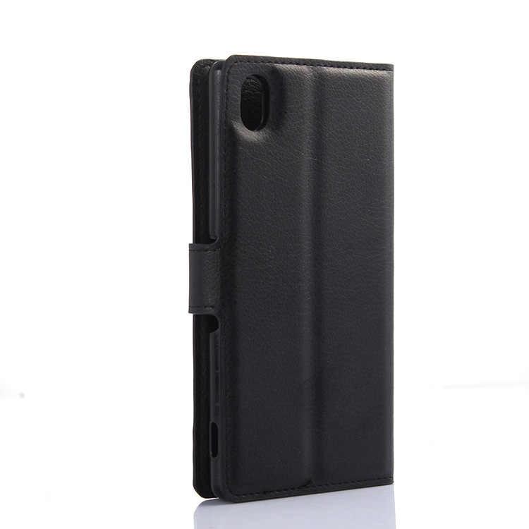 Bật BẰNG Da PU Ví dành cho Sony Xperia Z Z1 Z2 Z2A Z3 Z4 Z4V Z5 Z6 XZ Cao Cấp Nhỏ Gọn mini M M2 AQUA M5 XA1 Cực
