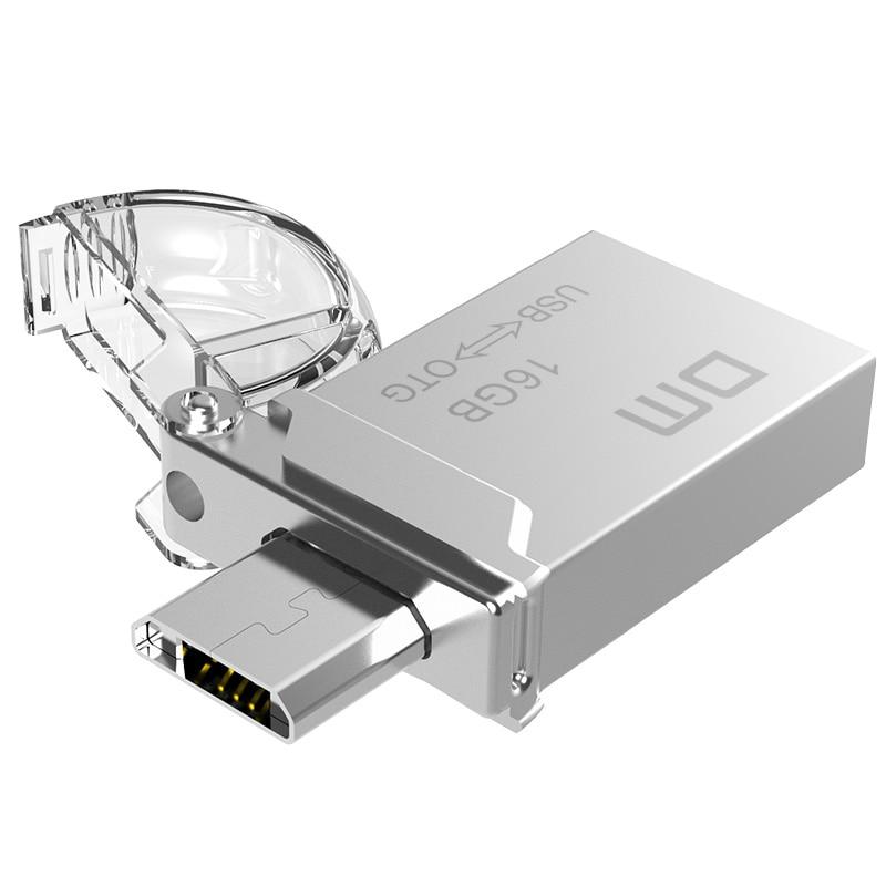 DM PD008 USB Flash Drive, 32GB Metal OTG Pendrive High Speed USB Memory Stick 16GB Pen Drive Real Capacity 8GB USB Flash U Disk