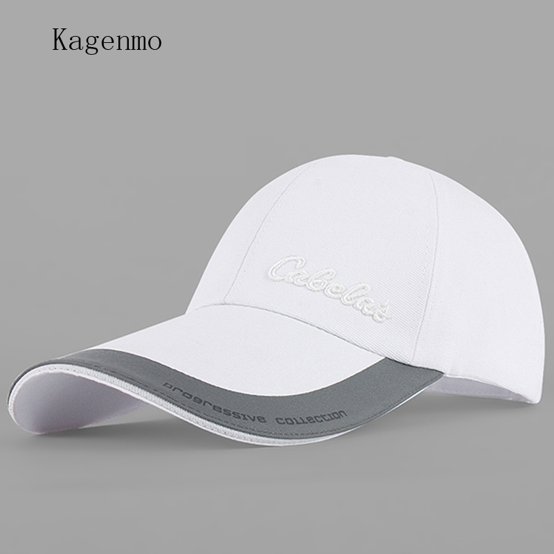 10e1142fc60 Kagenmo 2017 long brim shade sun hat unisex baseball cap leisure golf male  female sunhat fashion spring and summer visor
