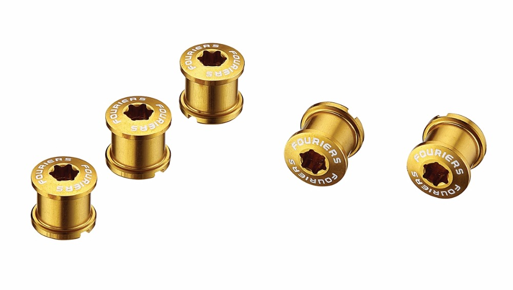 FOURIERS BN-M001 Alloy 7075-T6 full CNC BIKE Chainwheel screw BICYCLE Chainring bolt M8 x0.75