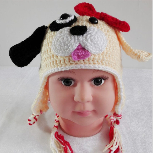 c1f0b317d New Children Baby Beanies Ear Hold Girls Cute Doggy Hat Kids Cotton ...