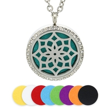 BOFEE Perfume Aromatherapy Diffuser Necklaces Pendant Magnetic Stainless Steel Essential Oil Locket Travel Car Fashion Jewelry