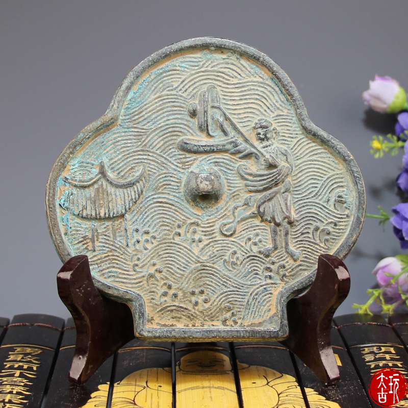 Rare Antique Bronze Tang Mirror South Sea Fairy man Figure Bronze Mirror ,Hand-carving crafts,Collection&Adornment,Free shippingRare Antique Bronze Tang Mirror South Sea Fairy man Figure Bronze Mirror ,Hand-carving crafts,Collection&Adornment,Free shipping