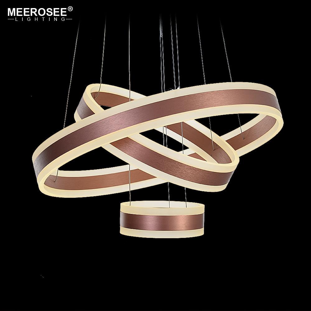 Modern Pendant Lights Luces Led Decoracion 3 Circle Rings LED Dining room LED Lustre Rose Gold Pendant Lamp Hanging Luminaire