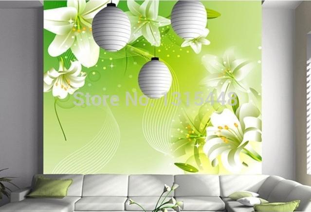Custom 3d wallpaper Lily large murals flower wallpaper the ss