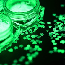 1Box Luminous Nail Glitter Sequins Star Ultra-thin Moon Floral Shape Nail Fluorescent Nail Art Glitter Flakes DIY Decoration four angle stars shape nail glitter sequins for nail art decoration makeup facepainting nail gel manual diy crafts decoration