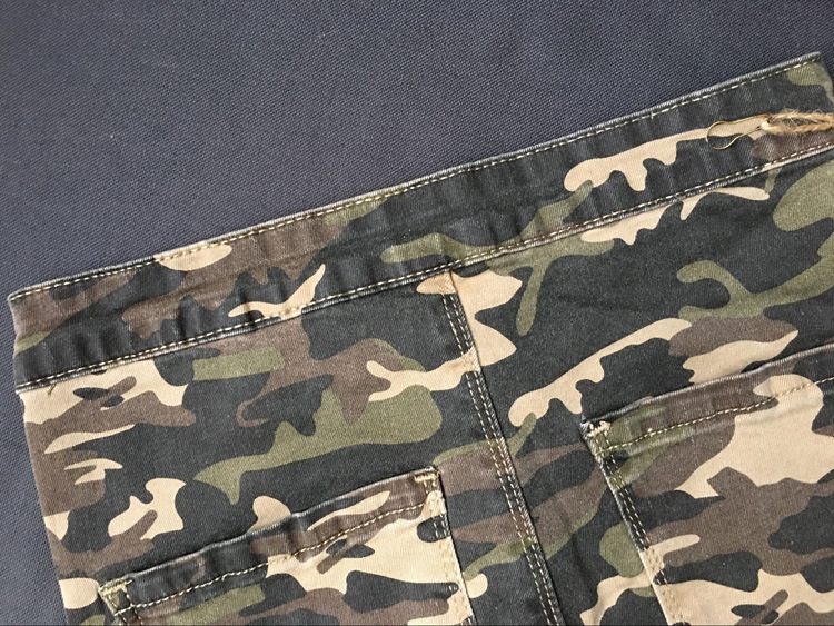 2017 New Brand Women Fitness Cloth Camouflage High Waist Elastic Stretch Holes Jeans Pencil Pants Street Style Denim Trousers (28)