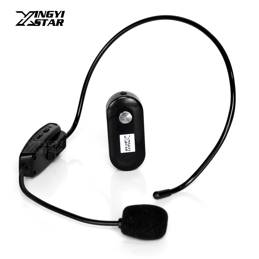 mini headworn wireless microphone headset mic megaphone for computer teaching karaoke system. Black Bedroom Furniture Sets. Home Design Ideas